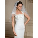 One-tier Elbow Bridal Veils With Beaded Edge (006024468)
