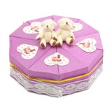 Cute Bear Pyramid Favor Boxes