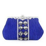 Charming Silk/Crystal/ Rhinestone With Ruffles Clutches
