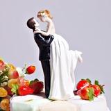 """""""Love Swept"""" Resin Wedding Cake Topper (122036176)"""