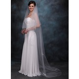One-tier Chapel Bridal Veils With Finished Edge