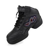 Women's Men's Unisex Real Leather Flats Sneakers Practice Dance Shoes
