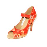 Silk Heels Sandals Latin Dance Shoes (053024889)