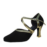 Women's Velvet Heels Pumps Modern Dance Shoes