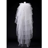 Ten-tier Waltz Bridal Veils With Scalloped Edge