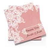 personalisé Design de fleur Papier Merci des cartes (Lot de 50)
