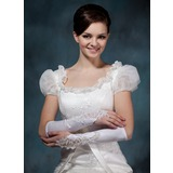 Elastic Satin Elbow Length Bridal Gloves (014020495)