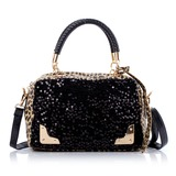 Fashional PU With Sequin Top Handle Bags