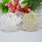 Rose Design Favor Boxes With Ribbons