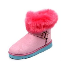 Suede Flat Heel Ankle Boots Snow Boots With Fur shoes
