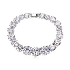 Luxurious Zircon/Platinum Plated Ladies' Bracelets