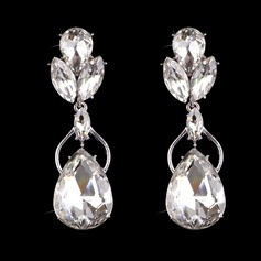 Shining Alloy/Silver Plated With Crystal Ladies' Earrings
