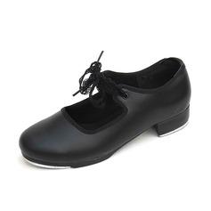 Women's Kids' Leatherette Flats Tap Dance Shoes