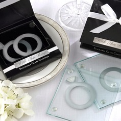"""""""With this Ring"""" Glass Coaster (Set of 2 pieces)"""
