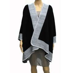 Color Block Infinity/Shawls Poncho