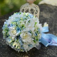 Нежный Круглый атласная Свадебные букеты