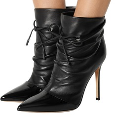 Women's Leatherette Stiletto Heel Pumps Boots With Chain shoes