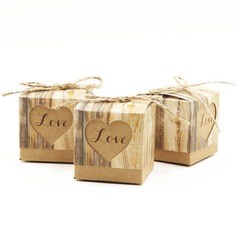 """Love"" Cubic Favor Boxes (Set of 12)"