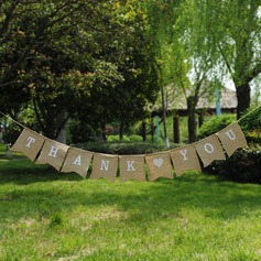 """Thank you"" Burlap Photo Booth Props/Banner"
