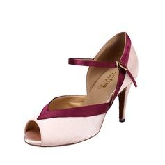 Women's Nubuck Heels Sandals Latin With Buckle Dance Shoes