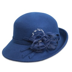 Ladies' Classic Spring/Autumn/Winter Wool With Bowler/Cloche Hat