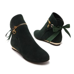 Women's Suede Low Heel Platform Ankle Boots shoes