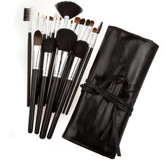Black Professional Makeup Brush (19 Pcs)