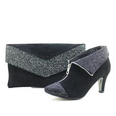 Élégante Velours Chaussures et Sacs assortis