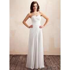 A-Line/Princess Sweetheart Floor-Length Chiffon Wedding Dress With Ruffle