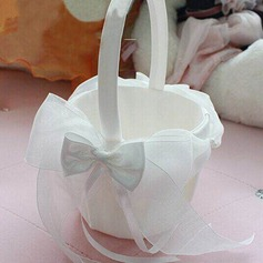 Pure Flower Basket in Organza With Bow