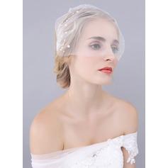 Uno capa Corte de borde Velos colorete con La perla de faux
