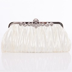 Gorgeous Silk With Crystal/ Rhinestone Clutches/Shoulder Bags