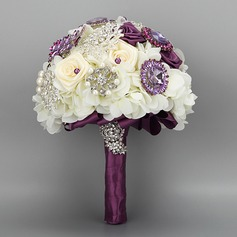 Attractive Round Cloth Bridal Bouquets