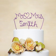 Personalized Iron Cake Topper