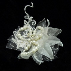 Beautiful Artificial Silk/Tulle Flowers & Feathers
