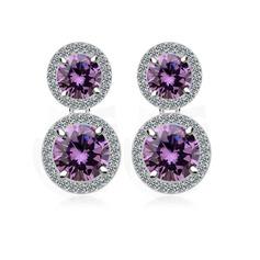 Pretty Zircon/Platinum Plated Women's Earrings