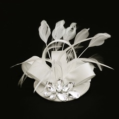 Ladies' Special Fabric With Feather/Rhinestone Fascinators