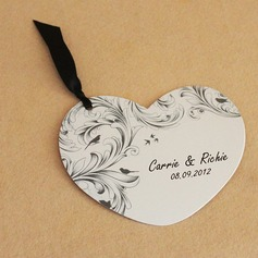 Flower Design Paper Invitation Cards With Ribbons