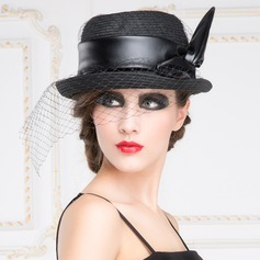 Ladies' Glamourous Spring/Autumn Papyrus With Bowler/Cloche Hat