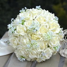 Charming Round PE Bridal Bouquets/Bridesmaid Bouquets