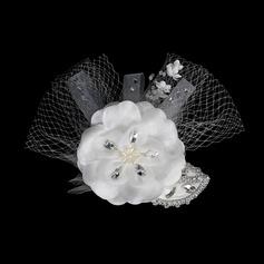 Moda Crystal Tocados/Flores y plumas