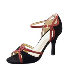 Women's Nubuck Heels Latin With Buckle Dance Shoes