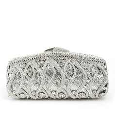 Special Stainless Steel/Rhinestone Clutches/Luxury Clutches
