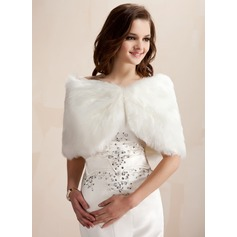 Faux Fur Wedding Wrap (013003848)