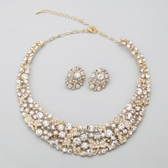 "Shining Alloy/""A"" Level Rhinestone Ladies' Jewelry Sets"