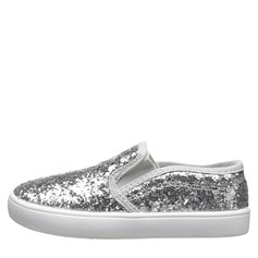 Girl's Sparkling Glitter Flat Heel Round Toe Flats With Sequin