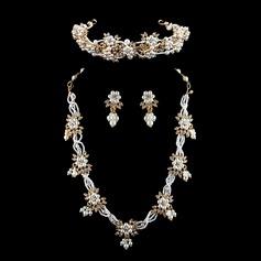 Exquisiten Legierung/Nachahmungen von Perlen mit Strass Damen Schmuck Sets