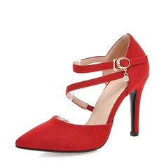 Women's Leatherette Stiletto Heel Closed Toe Pumps