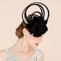 Ladies' Fancy Cambric With Feather/Silk Flower Fascinators