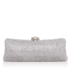 Unique Metal With Rhinestone Clutches
